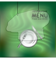 The restaurant menu template with frame vector image