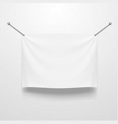 white clear textile banner template vector image vector image
