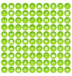 100 digital marketing icons set green circle vector