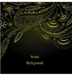 Background Hand Drawn ornament vector image vector image