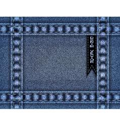 Blue denim frame vector image