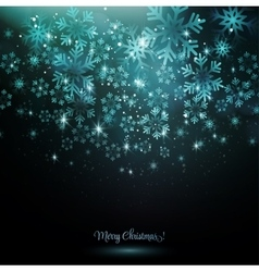 Blue snowflake on a dark background vector image