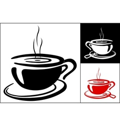 Cup of coffee background vector image vector image