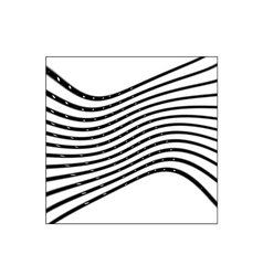 Square with black curved lines vector image vector image