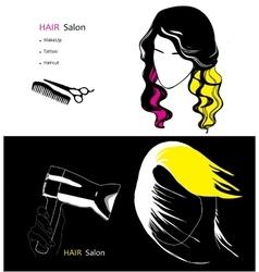 template for hair salon vector image