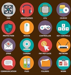 Digital devices icon set Digital devices icon set vector image vector image