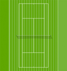 grass court vector image vector image