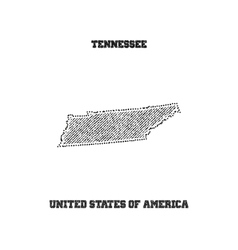 Label with map of tennessee vector image
