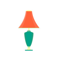 lamp desk light design table icon electric color vector image