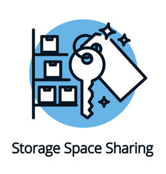 storage space sharing economy concept black vector image vector image