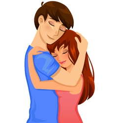 couple hugging vector image
