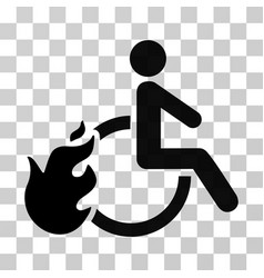 Fired disabled person icon vector