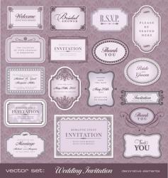 invitation design elements vector image