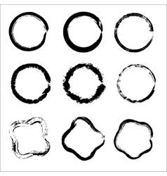 Set of Hand Drawn Scribble Circles design vector image vector image