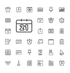 33 reminder icons vector