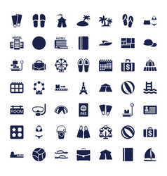 49 vacation icons vector