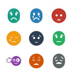 9 depression icons vector