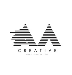 Aa a zebra letter logo design with black and vector