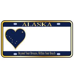 Alaska state license plate vector