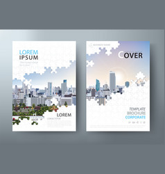 annual report brochure flyer leaflet cover vector image