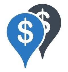 Bank locations icon vector