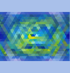 blue and yellow seamless triangular pattern vector image vector image