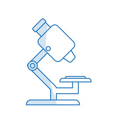 blue silhouette shading microscope science tool vector image