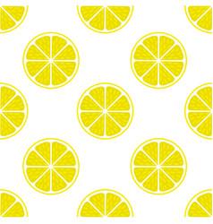 Bright lemon slice background vector
