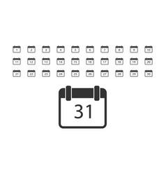 calendar icon flat vector image