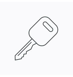 Car key icon Transportat lock sign vector