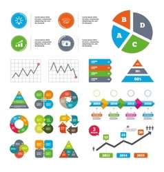 Chart with arrow brainstorm Cash money vector image