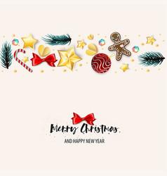 christmas greeting postcard ornament vector image