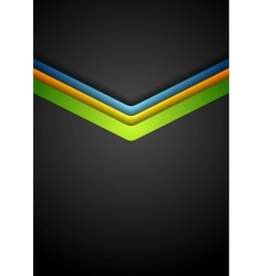 Colorful arrows on dark background vector