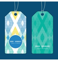 Colorful fabric ikat diamond vertical round vector