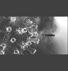 Conceptual coronavirus 3d vector