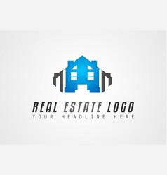 Creative real estate logo design for brand vector