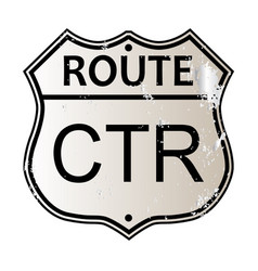 Ctr highway sign vector