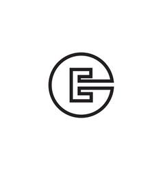 e circle letter lines logo design vector image