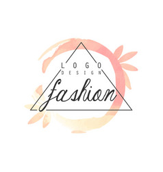 fashion logo design badge for clothes boutique vector image