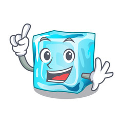 Finger ice cubes on the cartoon funny vector