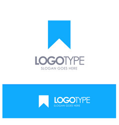 Flag instagram interface save tag blue solid logo vector