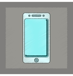 flat shading style icon mobile phone vector image