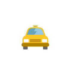 Flat taxi element of flat cab vector