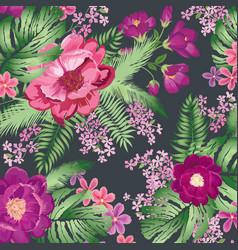 floral pattern flower bouquet spring garden vector image