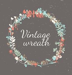 Floral Vintage Frame - wreath vector image