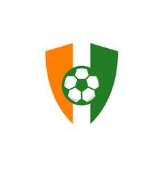 Football club logo template design vector