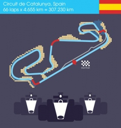 formula 1 Spain circuit vector image