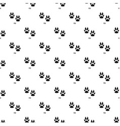 Fox step pattern seamless vector