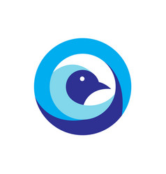 geometric bird logo vector image