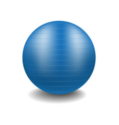gym ball in blue design with shadow vector image
